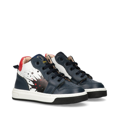 Sneakers Walkey in pelle con un'esplosione di colori