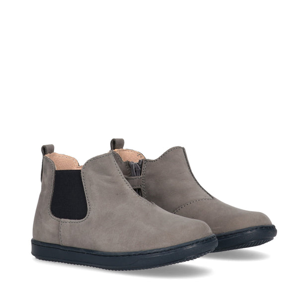 Beatles Walkey in suede grigio con elastico