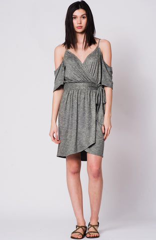 PISA SPACEDYE SUEDE DRESS