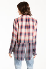 LAUREN DIPDYE BUTTON DOWN PLAID