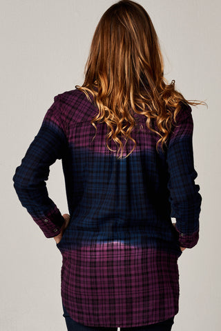 KEIRA ROLL SLV PLAID SHIRT