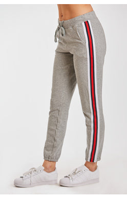 COURTNEY ATHLETIC STRIPE SWTPNT