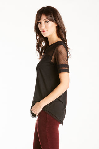 STELLA LACE MIX TEE