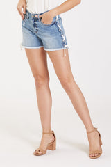 GIGI HIRISE SHORT W/LACE UP