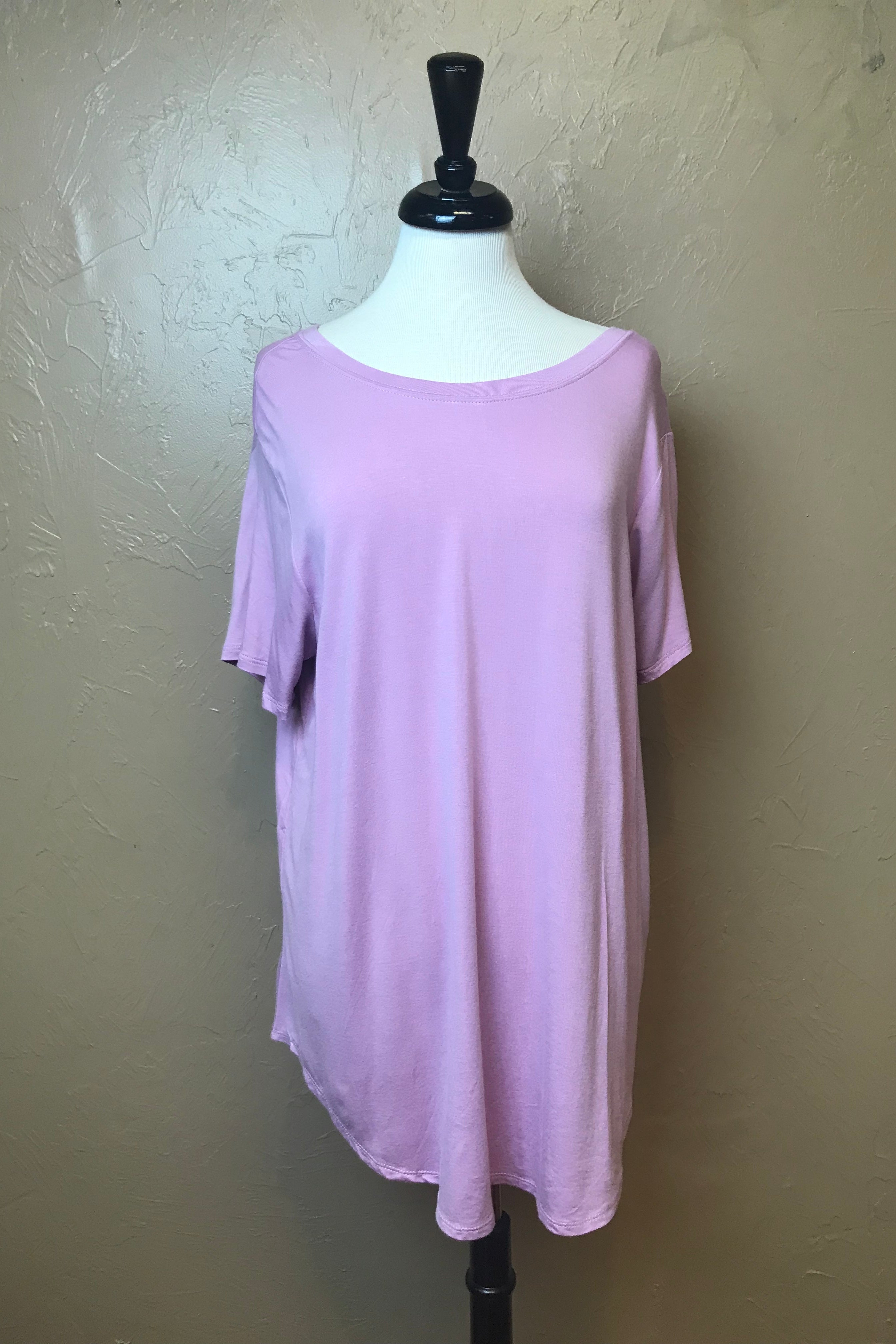 S/S DISTRESSED TUNIC TEE