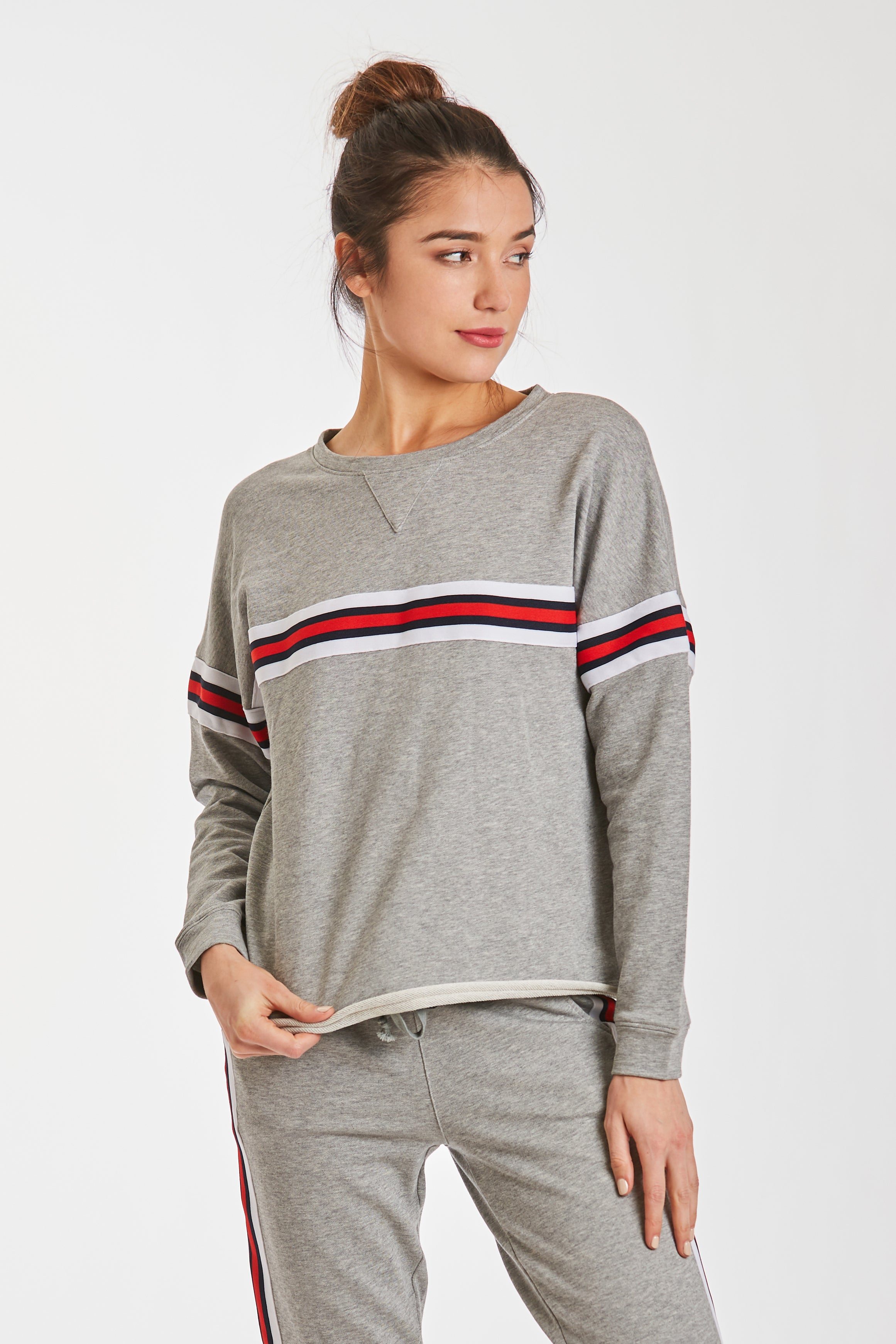 TATUM ATHLETIC STRIPE SWTSHRT
