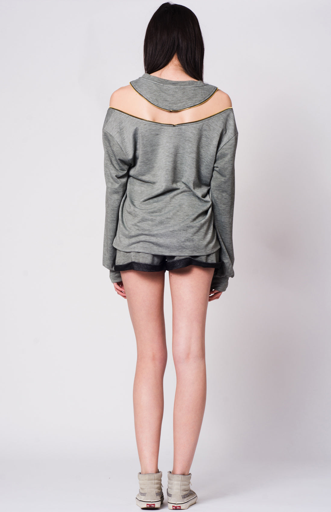 TIRANA ZIP SHOULDER SWTSHRT