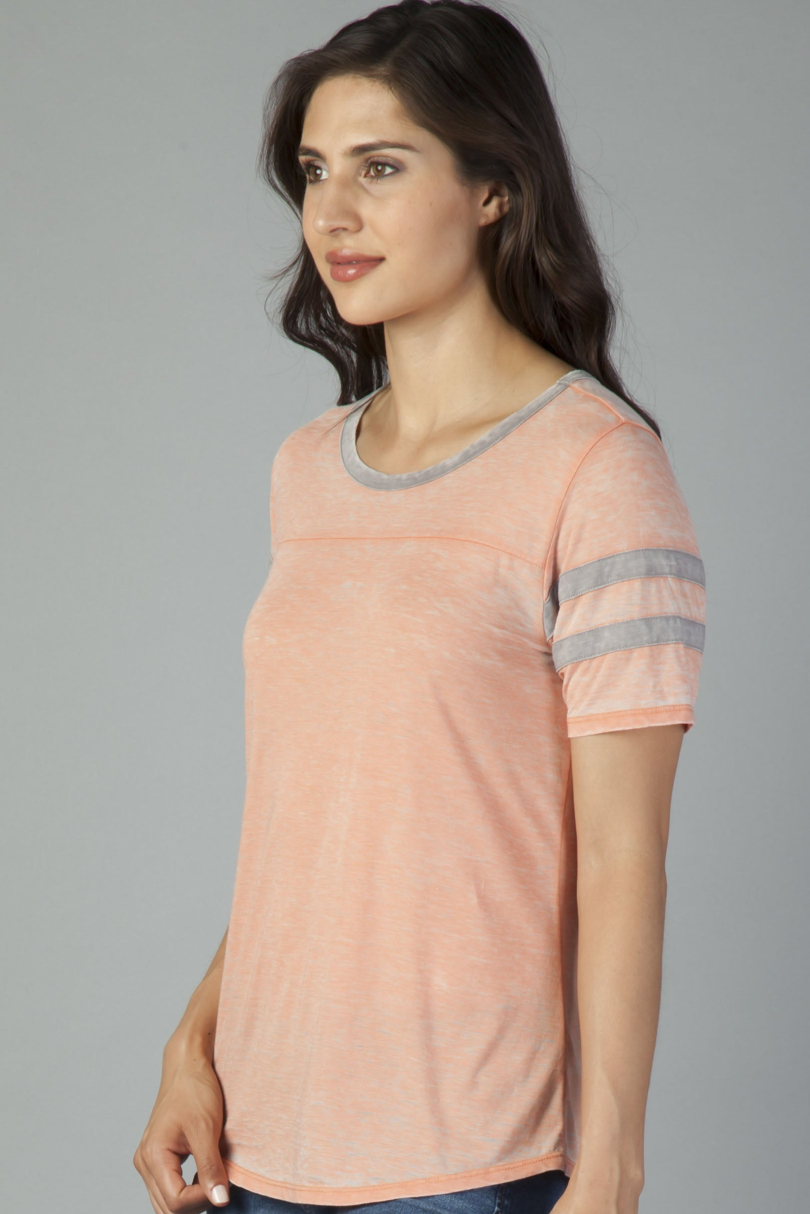 ANALISA B/O ARM RINGER TEE
