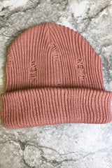 DISTRESSED SLOUCHY BEANIE