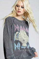 LONG SLEEVE SWEATSHIRT DEF LEPPARD LOVE BITES