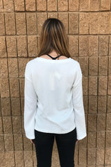 BELL SLV LACE UP SWEATSHIRT