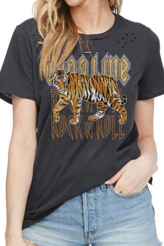 ROCK & ROLL TIGER GRAPHIC TEE