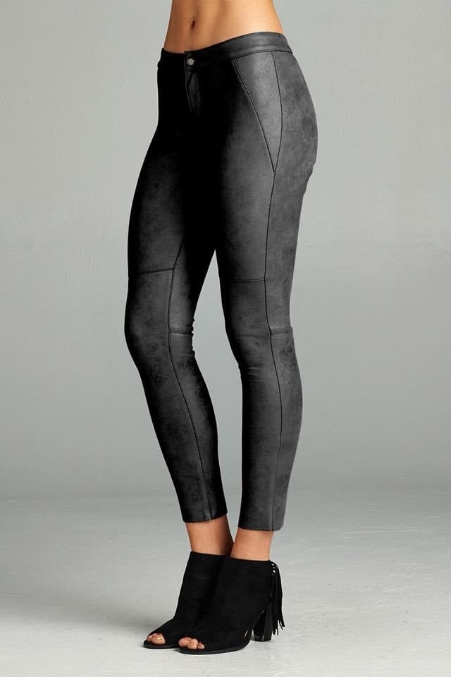 KENDRA SUEDE LEGGINGS