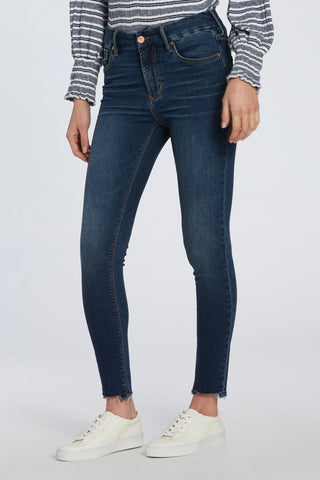 GISELE HIRISE SKINNY WITH UNEVEN RAW HEM