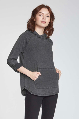 ANOTHER LOVE ADDISON THERMAL PULLOVER HOODY