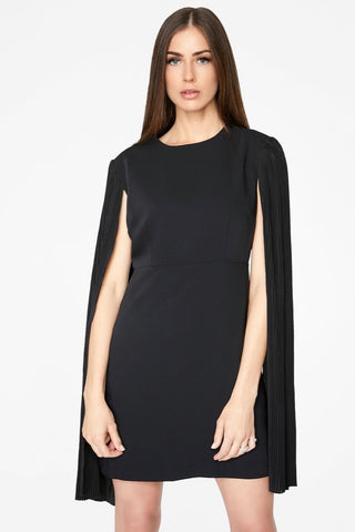 BODYCON DRESS WITH PLEATED OPEN SLEEVES