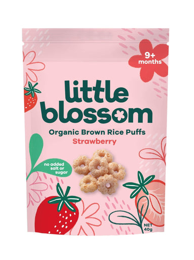 Little Blossom Organic Baby Puff Strawberry Front of Pack