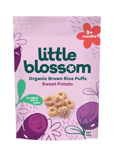 Little Blossom Organic Baby Puff Sweet Potato Front of Pack