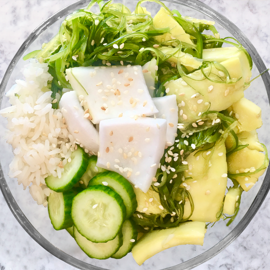 Coconut Meat Poke Bowl