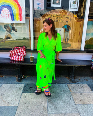 The 'Rainbow Connection' wrap dress