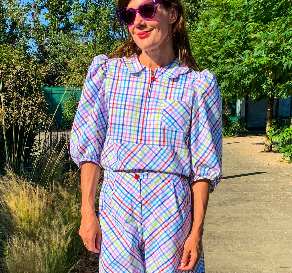 The 'Rainbow Check' blouse