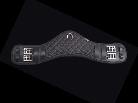 Curved dressage-girth