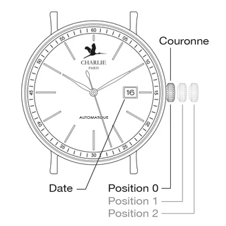 How to set the date on a watch