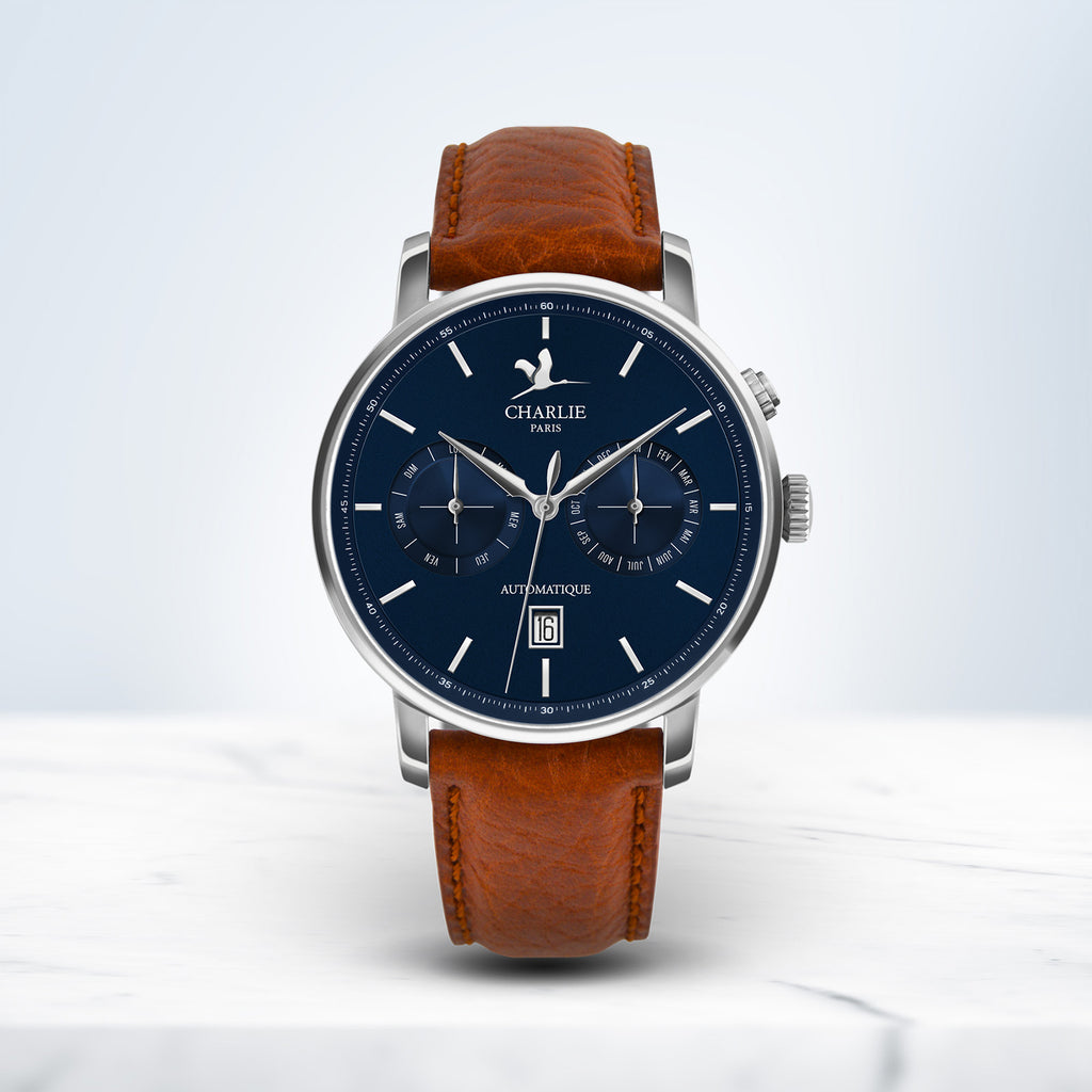 watch man automatic bracelet leather