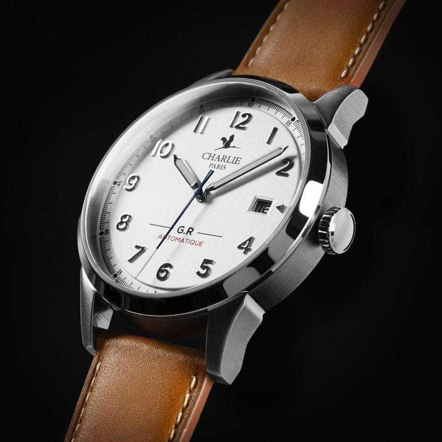 GR Automatique - Blanc - Montre homme française - Charlie Watch Paris - Made in France