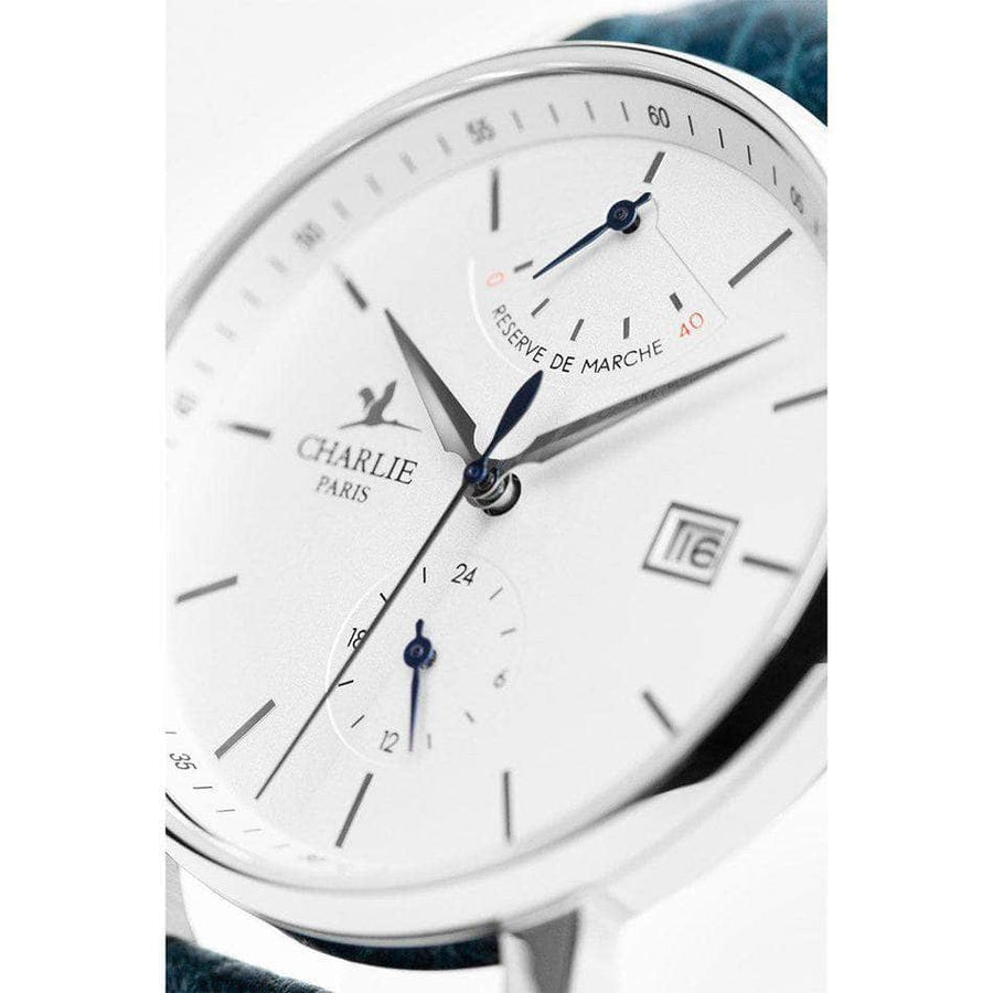 INITIAL - Réserve de Marche - Blanc - Montre homme & montre femme - Automatique & quartz - Made in France