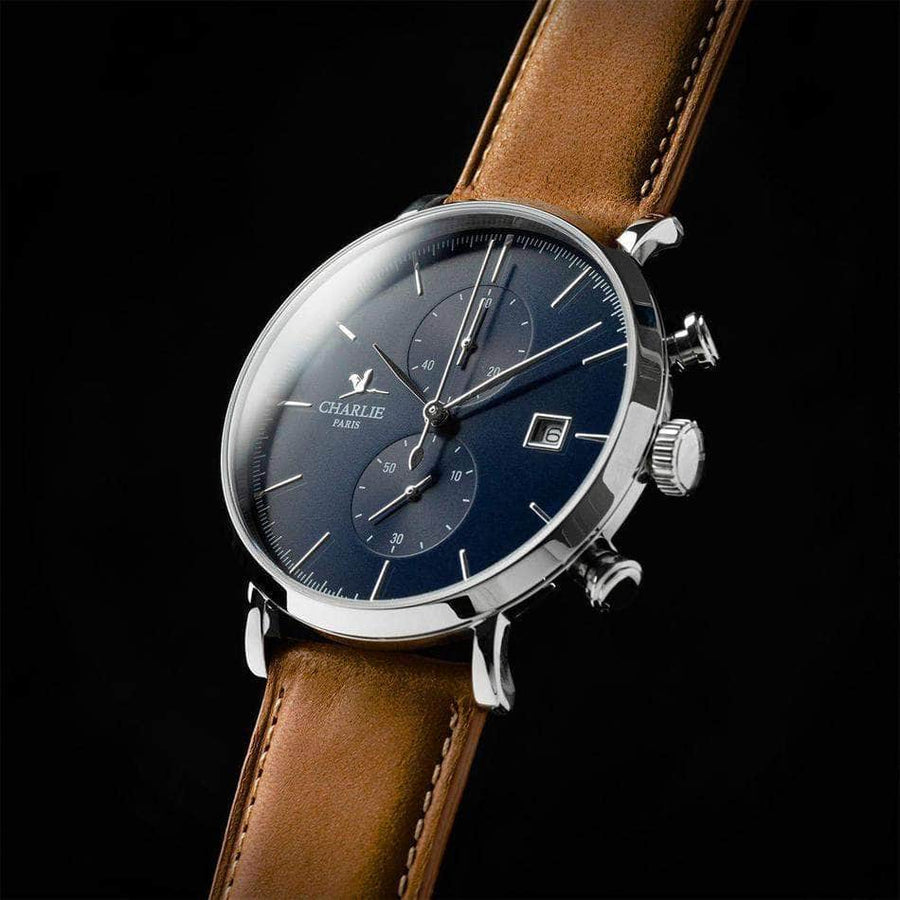 HORIZON - Bleu - Montre homme française - Charlie Watch Paris - Made in France