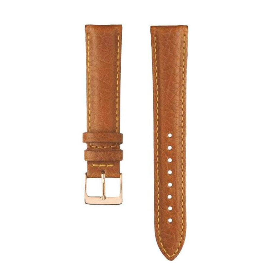 Camel grained leather bracelet