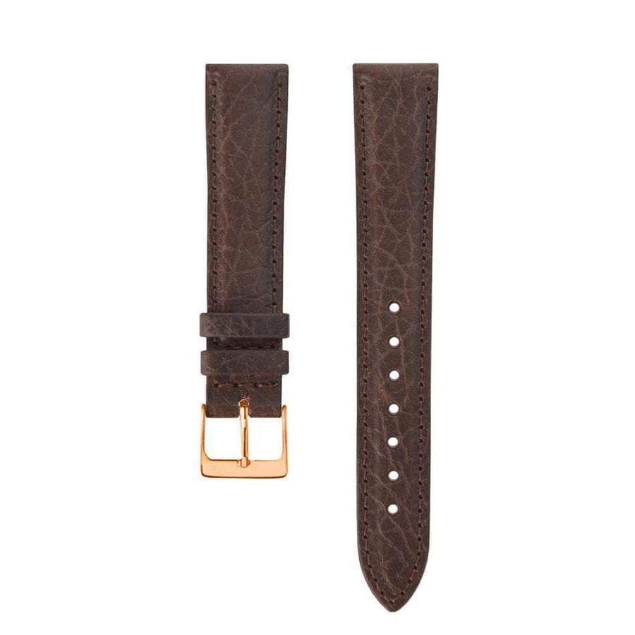 Chocolate granulated Leather Bracelet