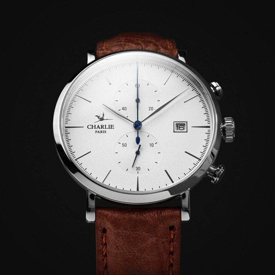 HORIZON - Blanc - Montre homme française - Charlie Watch Paris - Made in France