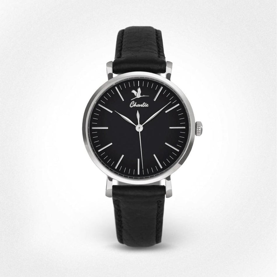 La Sully Acier - Noir - Montre homme française - Charlie Watch Paris - Made in France
