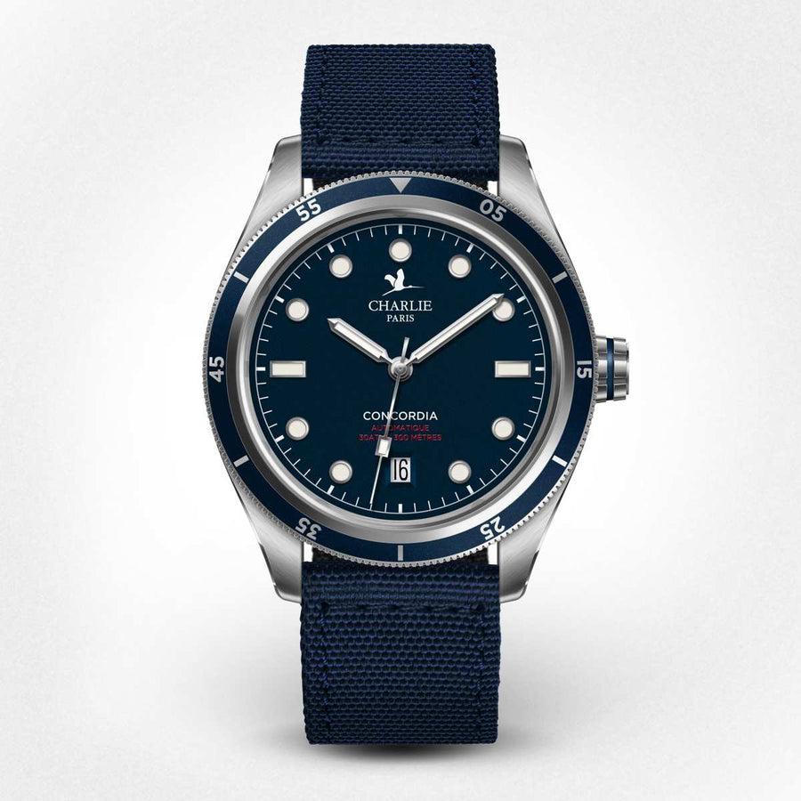 Concordia - Automatic - Blue - Charlie Paris