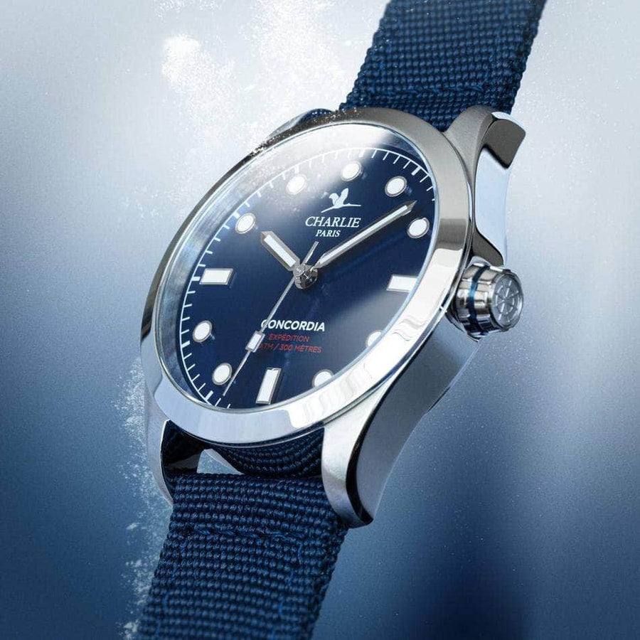 Concordia - Bleu - Montre homme & montre femme - Automatique & quartz - Made in France