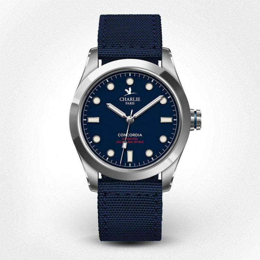 Concordia - Bleu - Montre homme française - Charlie Watch Paris - Made in France