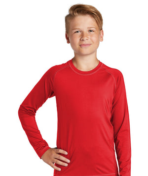 Sport-Tek® Youth Long Sleeve Rashguard Tee