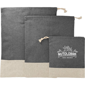 Split Recycled 3 pc Travel Pouch Set