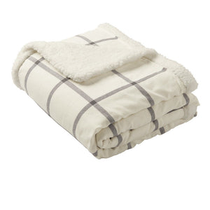 Port Authority® Flannel Sherpa Blanket