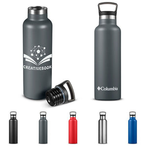 Columbia® 21 fl oz Double-wall Vacuum Bottle With Loop Top