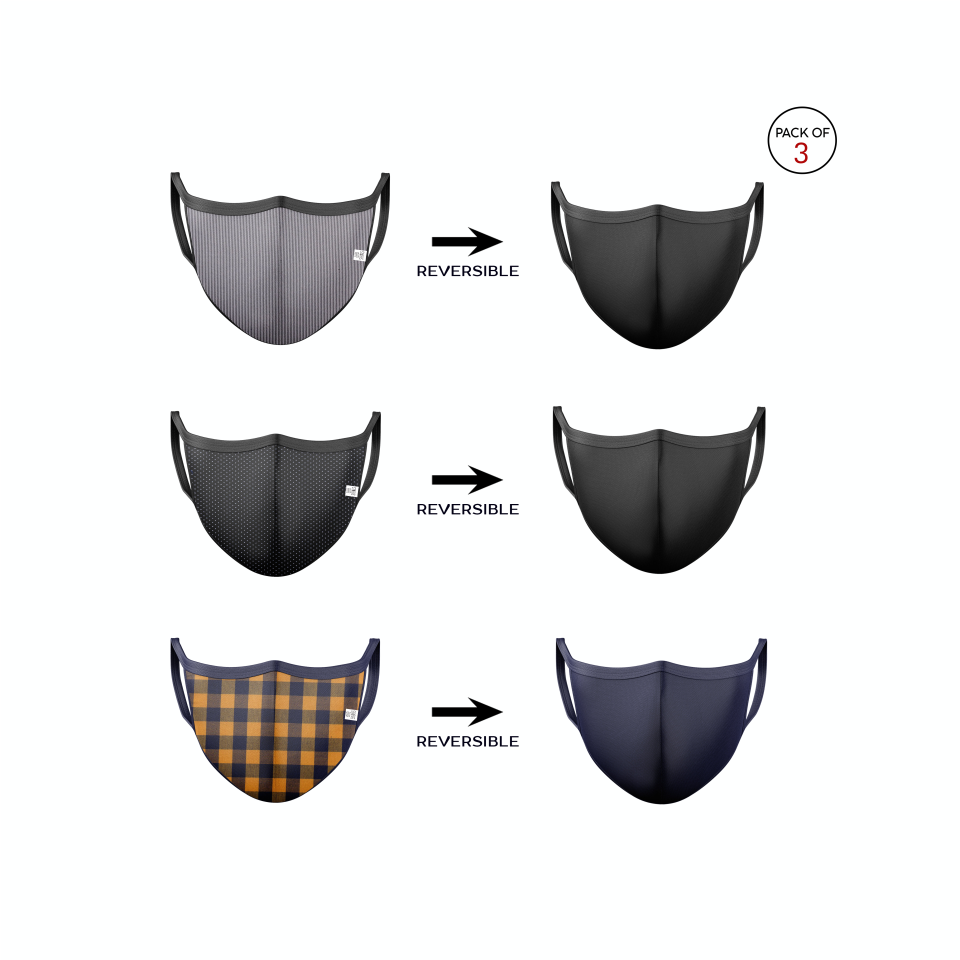 Reversible Cloth/Knitted Mask