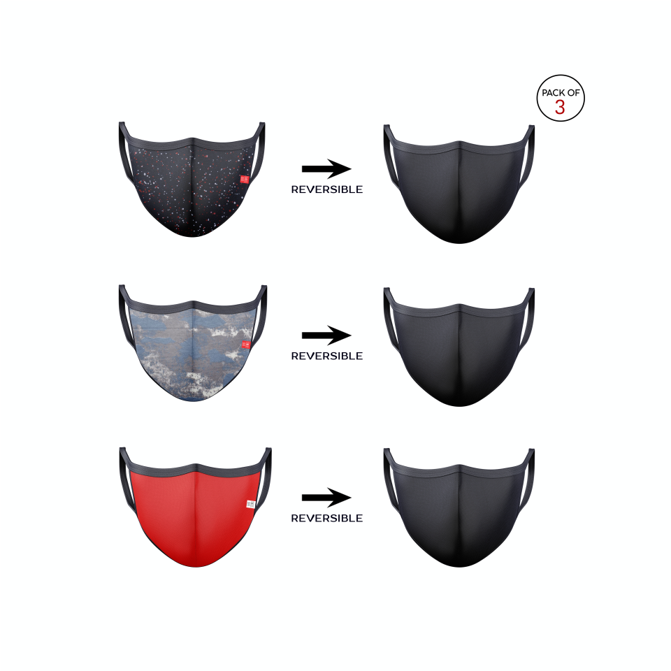 Reversible Cloth/Knitted Mask (Pack of 3)