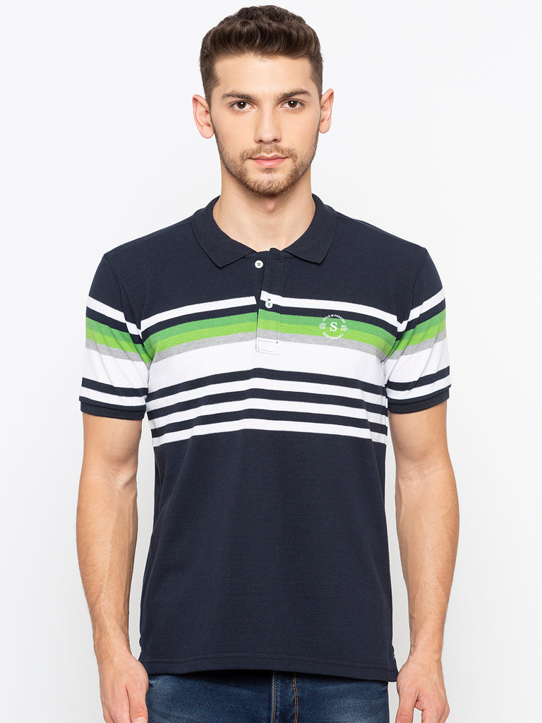 Copy of Striped Polo T-Shirt