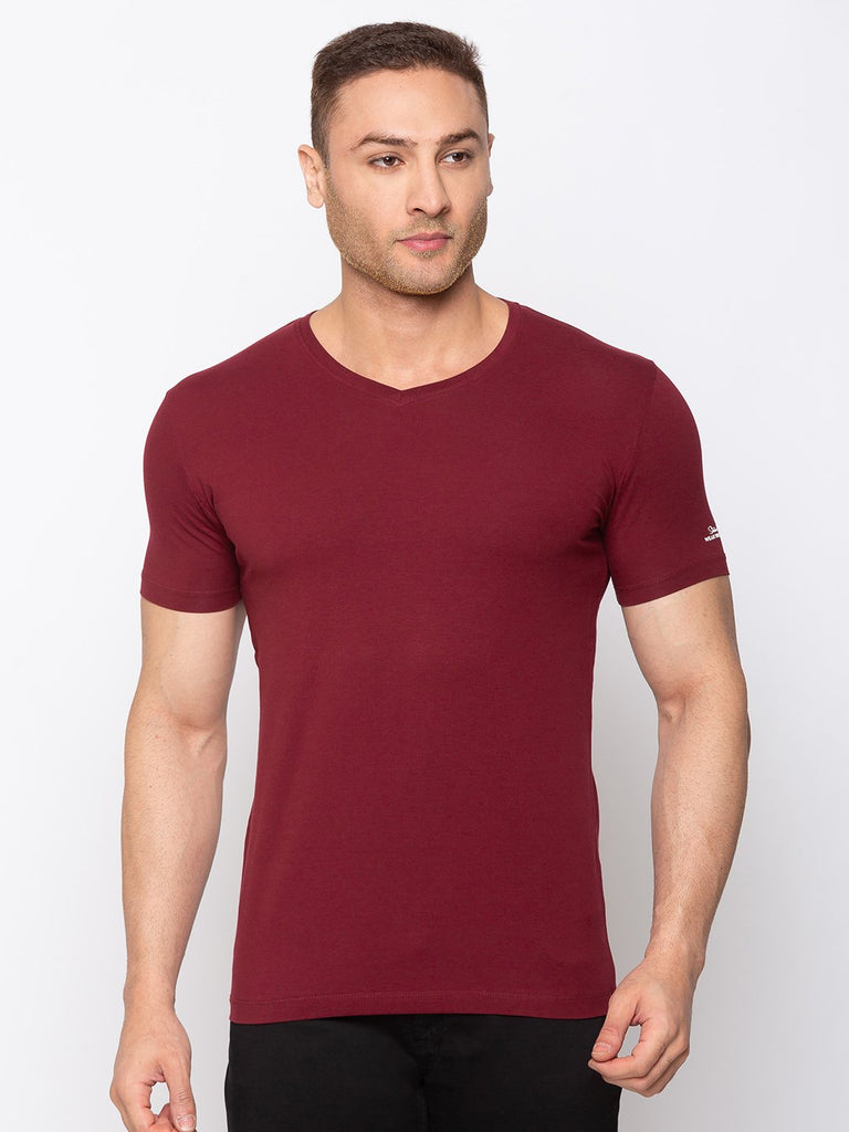 Status Quo |Solid Slim Fit V-Neck T-shirt - M, L, XL, XXL