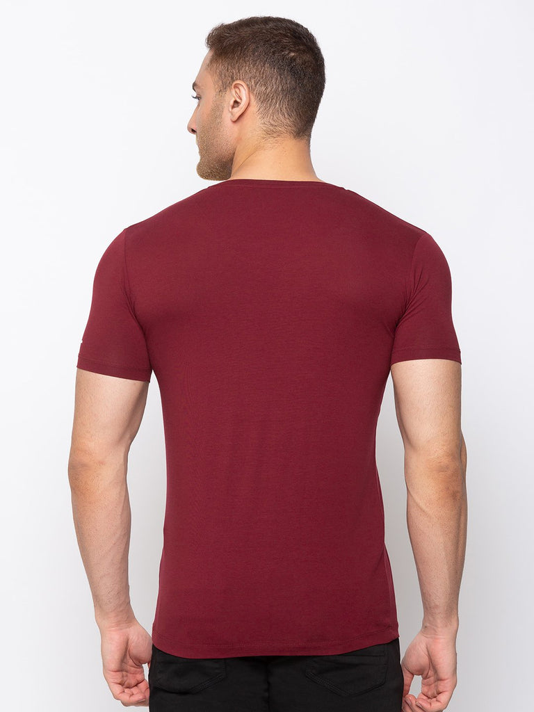 Solid Slim Fit V-Neck T-shirt