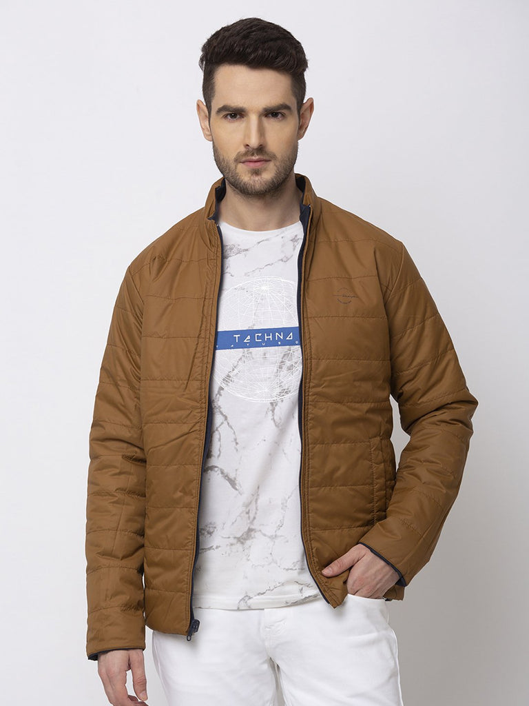 Status Quo |NAVY/BROWN High Neck Jacket - M, L, XL, XXL