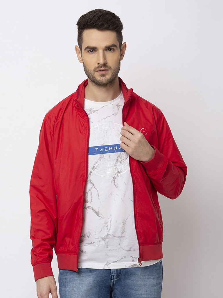 Status Quo |RED High Neck With Zipper Jacket - M, L, XL, XXL