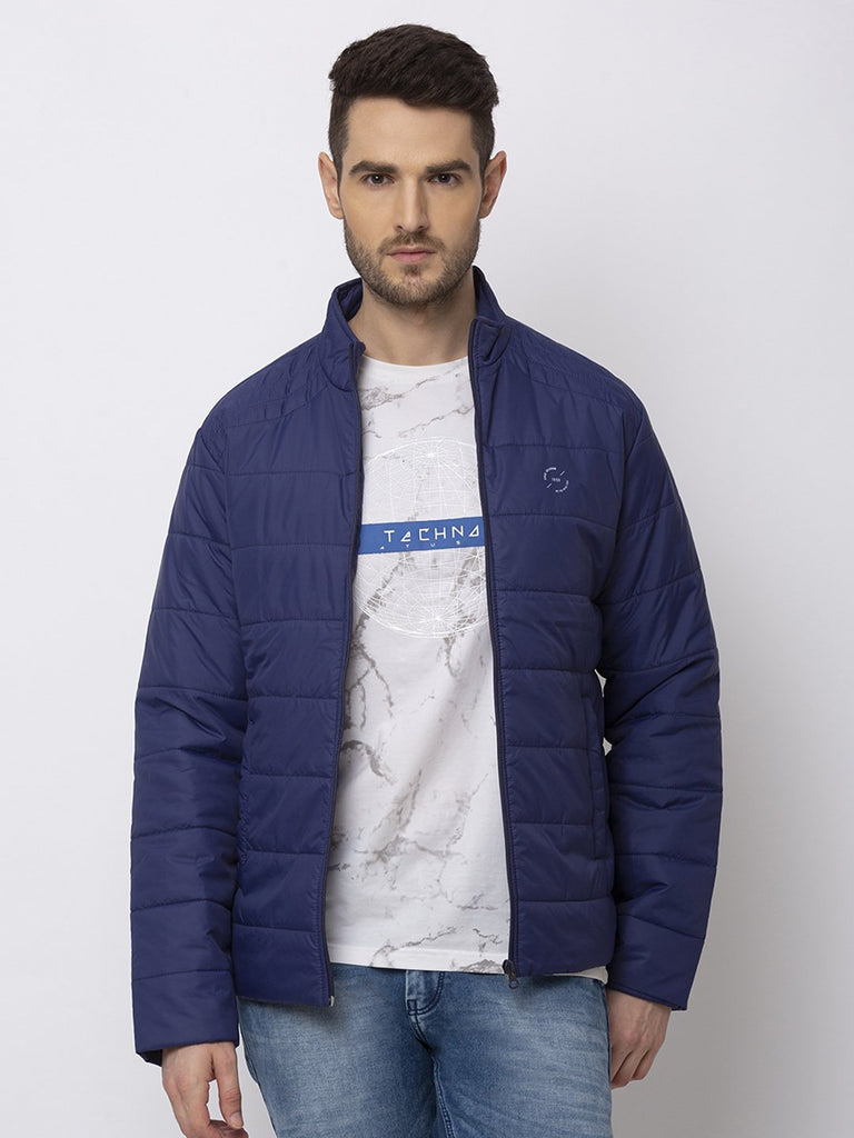 Status Quo |NAVY High Neck Jacket - M, L, XL, XXL